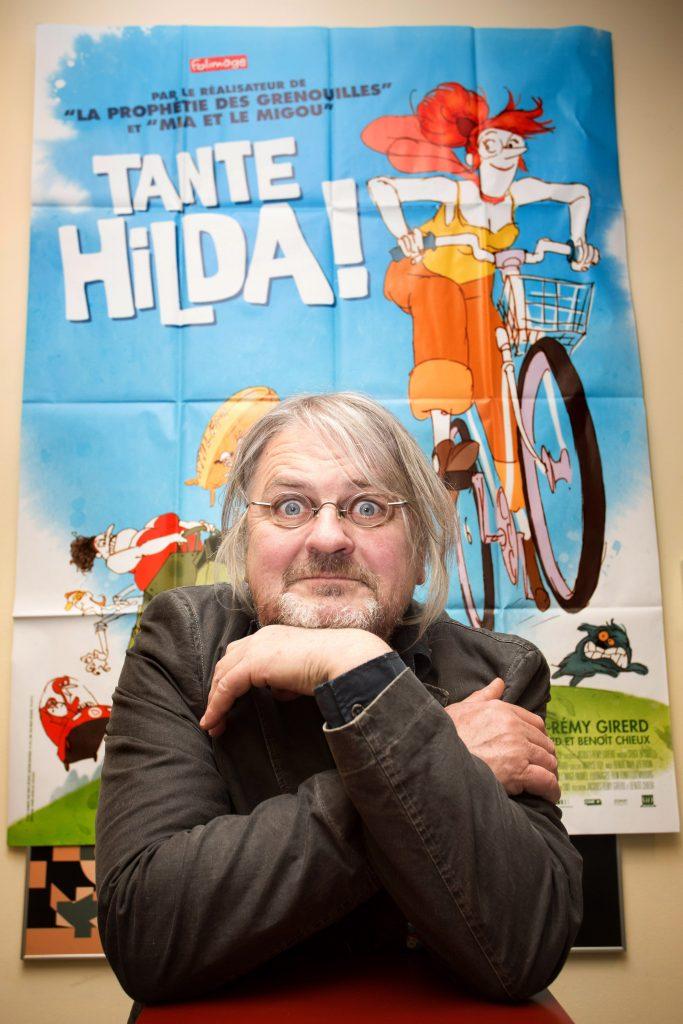 Festival frankofonskega filma/Animateka Teta Hilda! / (Tante Hilda!) Jacques-Rémy Girerd, Benoît Chieux; gost producent filma Jacques-Rémy Girerd! Slovenska kinoteka, 1.4.2016 (foto: Nada Žgank)