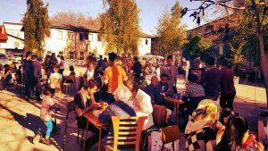 Cafe International, Notranje dvorišče Roga