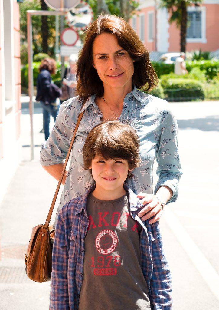 Alina Marazzi s sinom. Foto: Boštjan Mejak