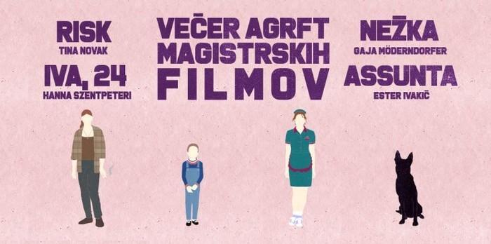 Večer magistrskih filmov AGRFT v Slovenski kinoteki